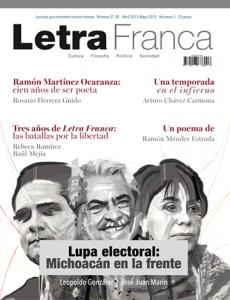 Portada de Letra Franca del No. 37-38 (Abril-Mayo 2015)