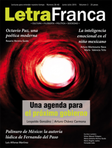 Portada de Letra Franca del No. 39-40 (Junio-Julio 2015)