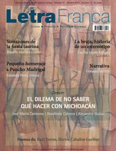 Portada de Letra Franca del No. 31 (Octubre 2014)