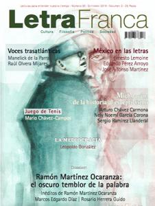 Portada de Letra Franca del No. 30 (Septiembre 2014)