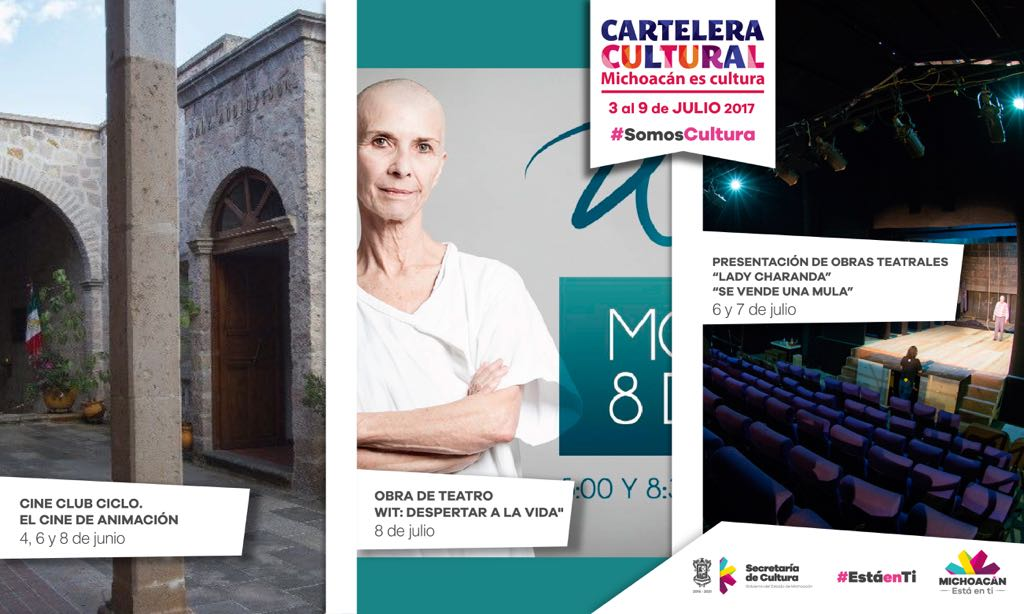 Cartelera Cultural del 3 al 9 de julio de 2017