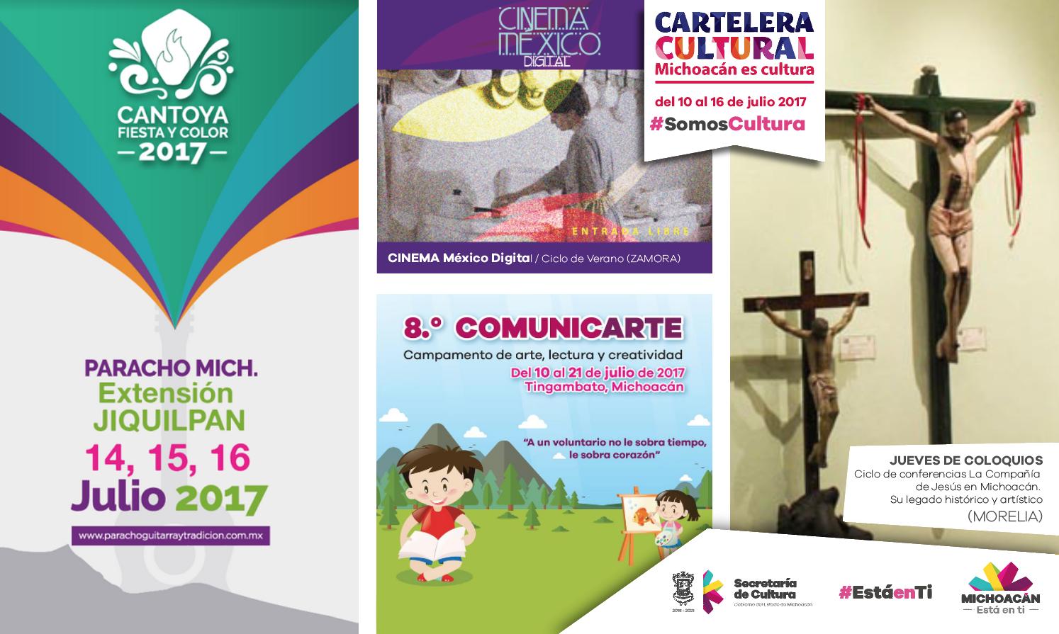 Cartelera Cultural del 10 al 16 de julio de 2017